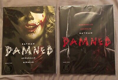 batman damned #1 uncensored and #2 1st prints