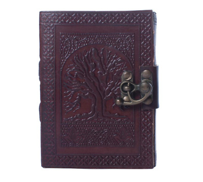 Vintage Tree Of Life Leather Journal Notebook Men Women Diary 10 x 7 240 Page