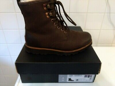 08f5885b3be UGG HANNEN TL Stout Waterproof Leather Mens Sheepskin Boots Size Us 8 New