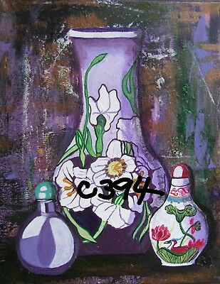 "P1-C394   Print From Original Acrylic  Painting By Ljh ""Purple Haze""  Still Life"