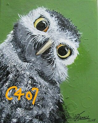 "P1-C407      Print  From Original Acrylic Painting By Ljh   ""Curious Owl"""