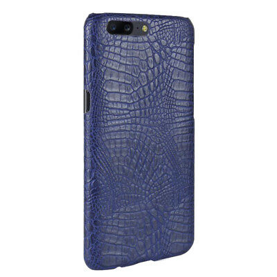 Luxury Ultrathin Crocodile PC+leather back shell case SKIN cover For Oneplus 5t