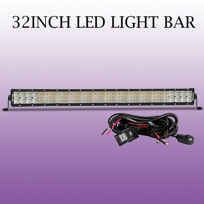 10D Quad Rows 32INCH Led Work Light Bar 3408W Flood Spot Combo Offroad 32''BA-US