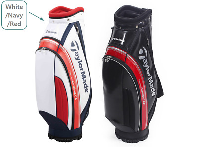 TaylorMade E5 Series Mid-Size 9in 5Way Men Caddie Bag Cart PU 6lb White/Navy/Red