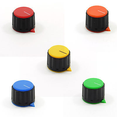 6mm Round Plastic Knob for Potentiometer with a Volume Control Cap High 17.5mm