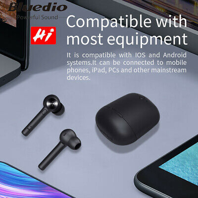 Bluedio HI Bluetooth 5.0 Waterproof IPX5 Ear Hook Wireless Headset earbuds Touch
