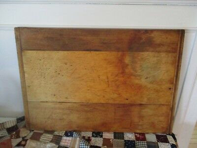 Primitive old bread board with great patina. Unusual baker's end. 22 1/2 by 15