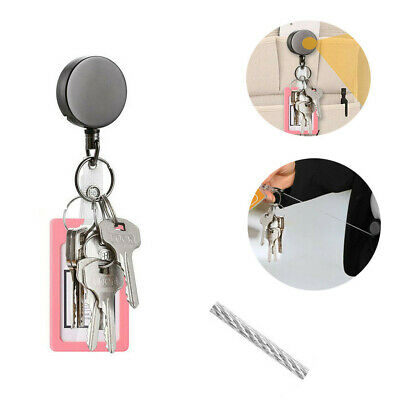 Telescopic Wire Rope Anti Lost Keychain EDC Retractable Key Ring Finder Gadge
