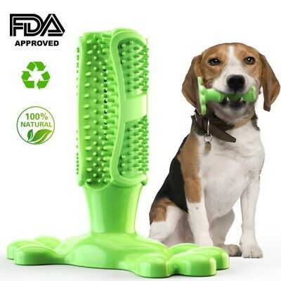 US Dog Toothbrush Chew Stick Cleaning Toy Silicone Pet Brushing Oral Dental Care