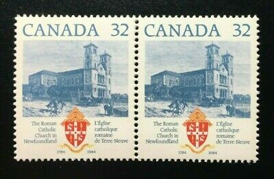 Canada #1029i + 1029 MNH, Roman Catholic Church Stamp 1984