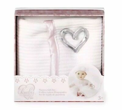 You & Me Baby So Sweet Knit Doll Blanket with Rattle Nursery Gift Set Toddler
