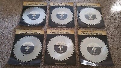 "Vintage Miller Falls 8"" Chromed Steel Circular Saw Blades Made in USA lot of 6"