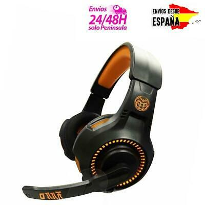 Cascos gamer ONAJI con micro y luz LED auriculares gaming jack 3.5 PS4 XBOX PC