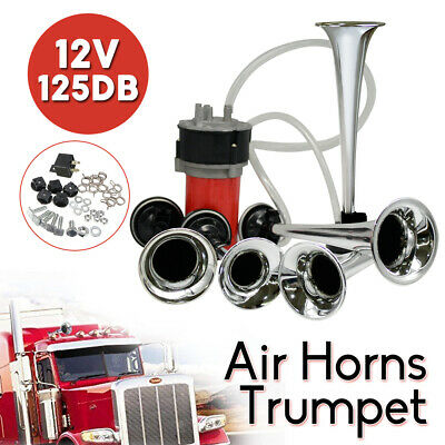 125DB Trumpet Air Horns Musical Dixie Dukes Train Car Truck Boat Bus Compressor