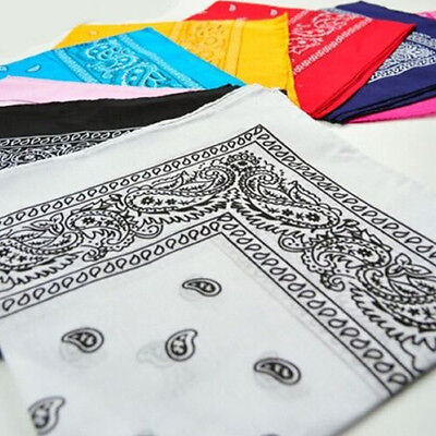 Paisley 100% Cotton Head Wrap Bandanna Head Wrap Summer Scarf Hot Sale