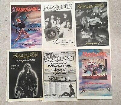 Marillion    Posters x 6. Music Press posters.