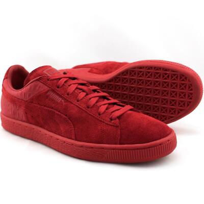 PUMA SUEDE CLASSIC Winterized Shoes Wine Red Leather 363533