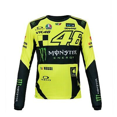 Valentino Rossi VR46 2019 Moto GP Long Sleeve Monster Monza T Shirt - Mens