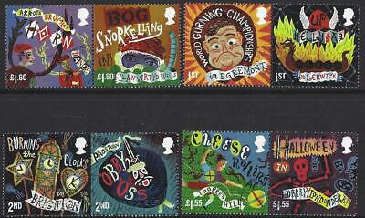 Great Britain 2019 Curious Customs Set Of 8  In Pairs Fine Used