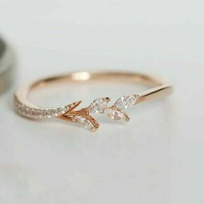14k gold 14 tiny diamond pieces of exquisite small fresh ladies engagement ring