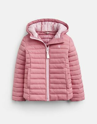 Joules Girls Kinnaird Padded Packable Coat Years in CHERRY BLOSSOM