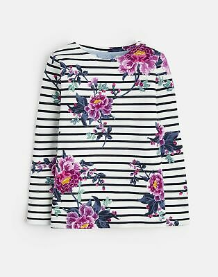 Joules 207092 Printed Jersey Top Shirt in SCHNFLR