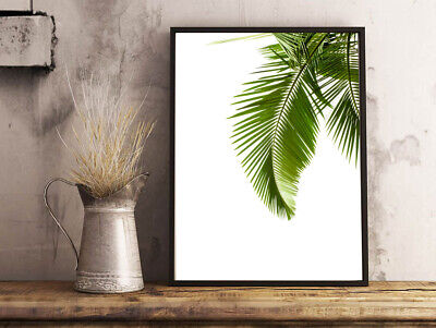Inspirational Modern Botanical Art Tropical Palm Leaf A4 Poster Print Gift