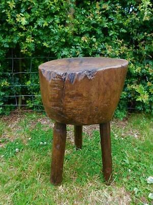 A Good Antique Rustic Country Chopping Block