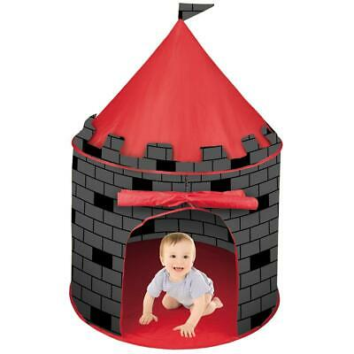 deAO Red Castle Pop up Play Tent Christmas Gift for Kids Children Playhouse