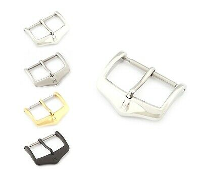 "HIRSCH Spring-Bar Tang Buckle, Model ""Classic"" 16-24 mm, 2 colors, new!"