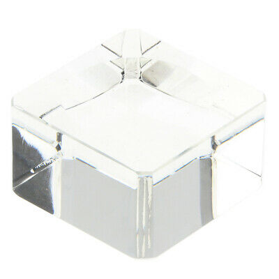 Clear Square Display Stand for Crystal Golf Ball Marbles Sphere Puzzle Ball