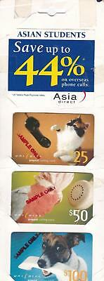 Unidial 44% Off Set Of 3 Display Card  Sample Only Stamped Cat Cocky Dog Rare