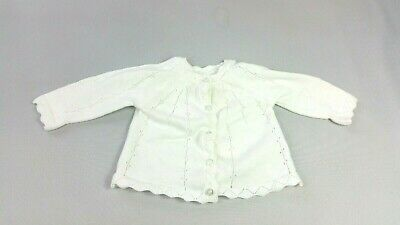MOTHERCARE Baby GIRLS CARDIGAN Newborn 10 lbs Off White