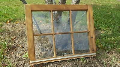 VINTAGE SASH ANTIQUE WOOD WINDOW PICTURE FRAME PINTEREST RUSTIC 24x19 6 PANE