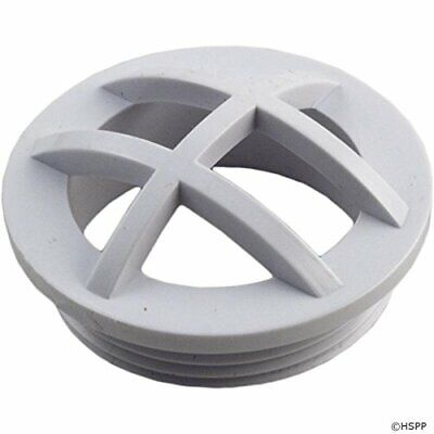 """Custom Molded Products 25560-000-000 1.5"""" MPT White Safety Grate Insert"""