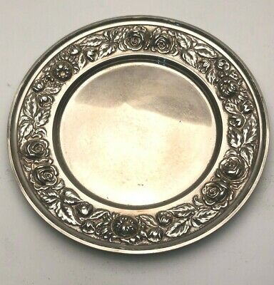 S. Kirk & Son Repousse Sterling Silver Bread Plate # 525 P