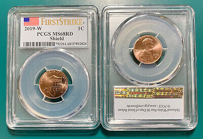 2019-W Lincoln Cent MS68RD Shield PCGS West Point Uncirculated First Strike