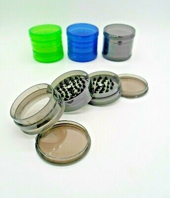 1 X 60mm 5 Part  Herb Sharp Teeth Plastic Grinder Rizla Grinder Magnetic Grinder