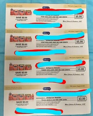 Enfamil Enfagrow Product Coupons 2 X ($5 + $3) Expire August 31, 2019