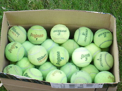 Lot of 30 used tennis balls
