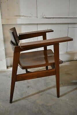 Vintage Gunlocke Co #2327 Wood Arm Chair Mid Century Furniture