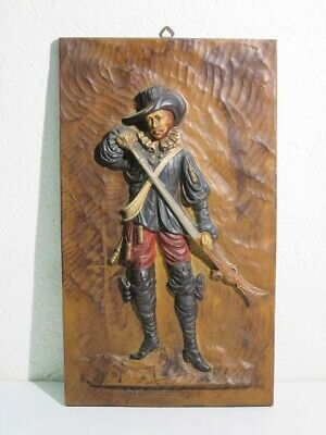 Vintage Panel Decorative Wall with Soldier Embossed Period Xx Century