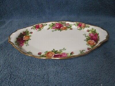 Vintage 1962 England Royal Albert Old Country Roses Gravy Boat Underplate Tray