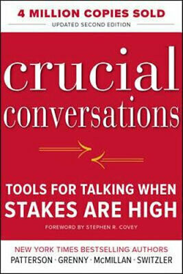 NEW Crucial Conversations By Kerry Patterson Paperback Free Shipping