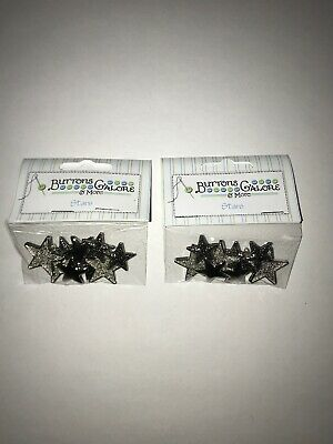 Button Theme Pack Silver Stars 840934069861 (Two Packages)