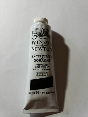 Winsor and Newton Designers Gouache - Large Ivory Black, 1.25 oz.  - Large Ivory
