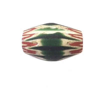10 Point 4 Layers 1983 Indian Green Red-White Chevron African Trade beads