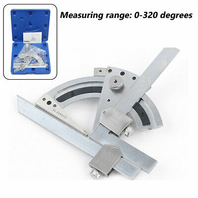 0-320° Bevel Protractor Machinist Angle Measurement Accurate Tool Carbon Steel