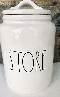 Rae Dunn STORE Canister By Magenta Large Letter LL HTF