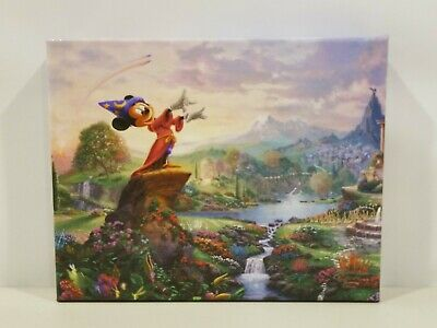 Thomas Kinkade Studios Disney Mickey Mouse 10x8 Gallery Wrapped Canvas